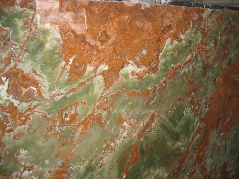 Dark Green Onyx slab