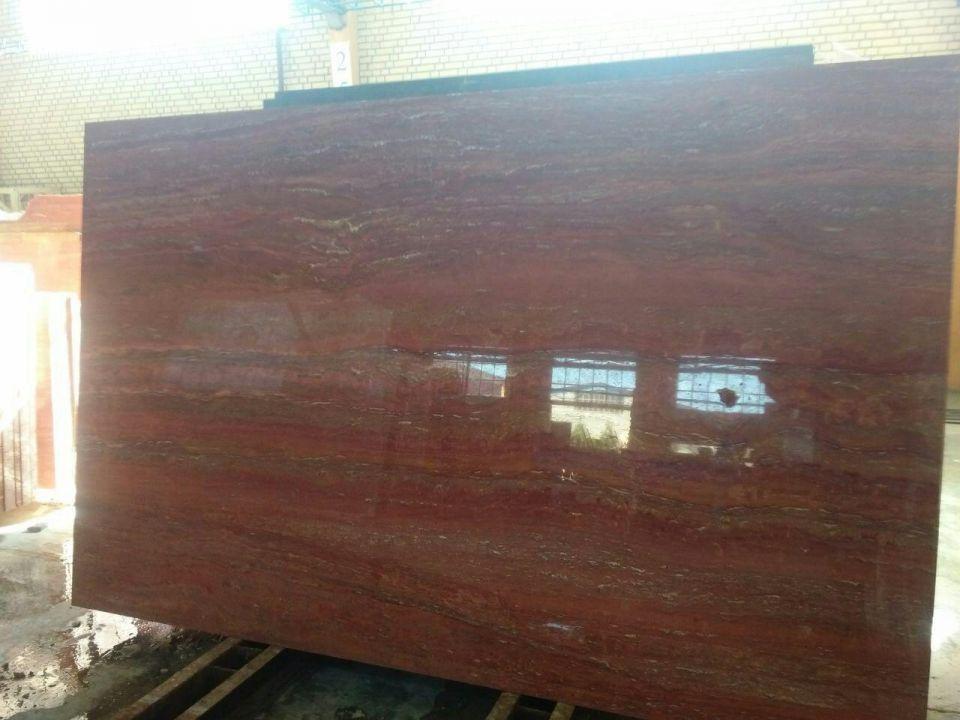 red travertine slabs 2 cm thickness