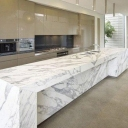 white marble table design